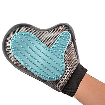 MOONKEY Pet Grooming Glove - Guante Manopla Masaje para Perros mascotas gatos, con el material transpirabl - Retiro del pelo ...