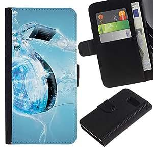 All Phone Most Case / Oferta Especial Cáscara Funda de cuero Monedero Cubierta de proteccion Caso / Wallet Case for Sony Xperia Z3 Compact // Music Water Heart