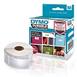 DYMO LW Durable Labels for LabelWriter Label Printers, White Poly, 1? x 2-1/8?, Roll of 160 (1976411)