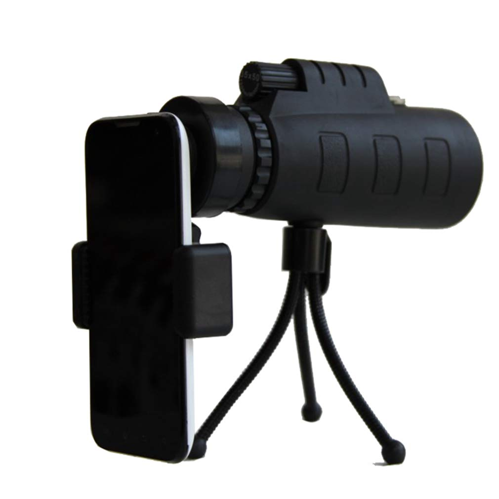EBRICKON Monocular Telescope 35X50 Portable Wide-Angle Zoom Lens Night Vision Telescope with Tripod Cell Phone Holder for Hunting Camping