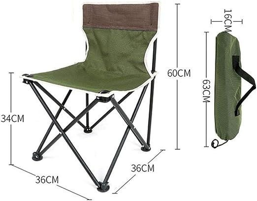 Yyqtzdy Silla de Camping Silla Plegable de Camping portátil, Silla ...
