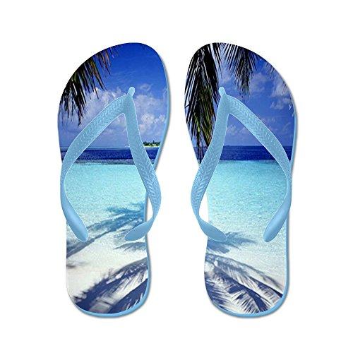 Cafepress Paradise Île Tropicale - Tongs, Sandales String Drôles, Sandales De Plage Bleu Caraïbes