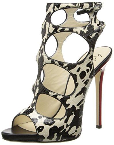Giuseppe Zanotti Women's Dress Sandal, Freddy Avorio Nero, 10 M