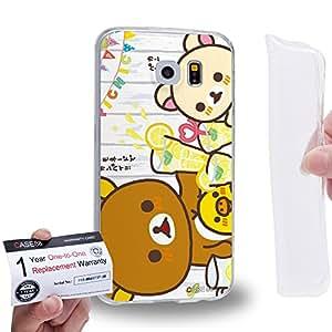Case88 [Samsung Galaxy S6] Gel TPU Carcasa/Funda & Tarjeta de garantía - Rilakkuma Korilakuma Kiiroitori Kaoru Collection 1353