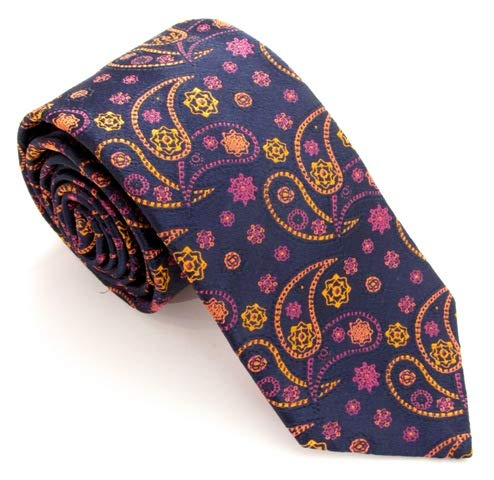 Van Buck - Corbata de seda, diseño de cachemira, color naranja y ...