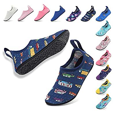 Coolloog Toddler Baby Water Shoes Kids Swim Soft Sole Shoes First Walker Barefoot Skin Infant Toddler Moccasins Size: 1-2 Little Kid