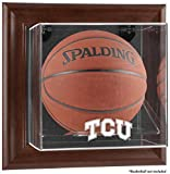 NCAA - TCU Horned Frogs Framed Wall Mountable Basketball Display Case