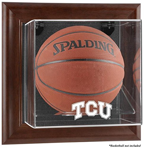 NCAA - TCU Horned Frogs Framed Wall Mountable Basketball Display Case by Sports Memorabilia