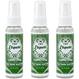Toilet Paper Moistener Spray for Flushable Wipe Alternative - Organic Based Cleanser & Skin Care Down There; Contains Aloe, Witch Hazel, Vitamins and More; Etiquette [Pack of Three]