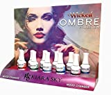 KIARA SKY Mood Changing Gel Polish Ombre ''*WICKED'' Collection 11 Colors + FREE 3 Air Brush Stencil