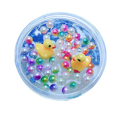 Cyhulu 60ml/100ml Mud Mixing Cloud Slime Putty, Fashion Little Yellow Duck Stress Relief Clay Toy for Kids Christmas Easter Birthday Gift Party Favors (Multicolor, 100ML) by Cyhulu (Image #5)