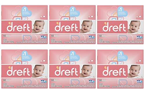 Dreft Baby Original Scent Powder Laundry Detergent,Recommended by Pampers, 40 Loads, 53 oz (Pack of 6) by  (Image #1)