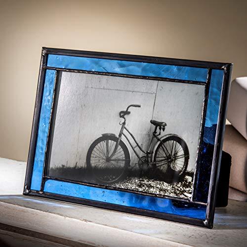 - J Devlin Pic 324-46HV Blue Stained Glass Picture Frame Tabletop Easel Back 4x6 Photo Frame Keepsake Gift
