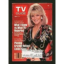 TV GUIDE 03/01/1986-LINDA EVANS/DANCE FEVER/LOGOS G