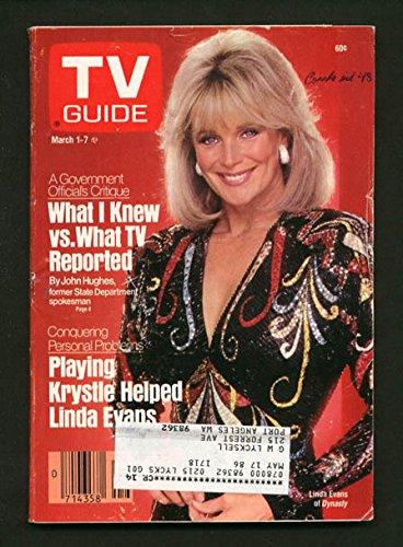 TV GUIDE 03/01/1986-LINDA EVANS/DANCE FEVER/LOGOS - Logo Linda
