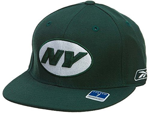 Reebok New York Jets Fitted Hat Mens Style: HAT276-BOTTLE GREEN Size: 7 3/4