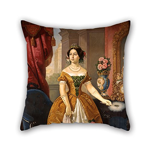 [Artistdecor 18 X 18 Inches / 45 By 45 Cm Oil Painting Juan Cordero - Portrait Of Doña Dolores Tosta De Santa Anna Pillow Cases,twin Sides Is Fit For Shop,family,monther,deck Chair,her,teens] (Oriole Bird Costume)