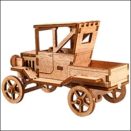 Desktop Wooden Model Kit Ford T Pickup Truck by Young Modeler