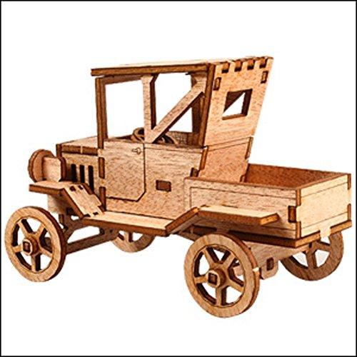 Wooden Pickup Truck (Desktop Wooden Model Kit Ford T Pickup Truck by Young Modeler)
