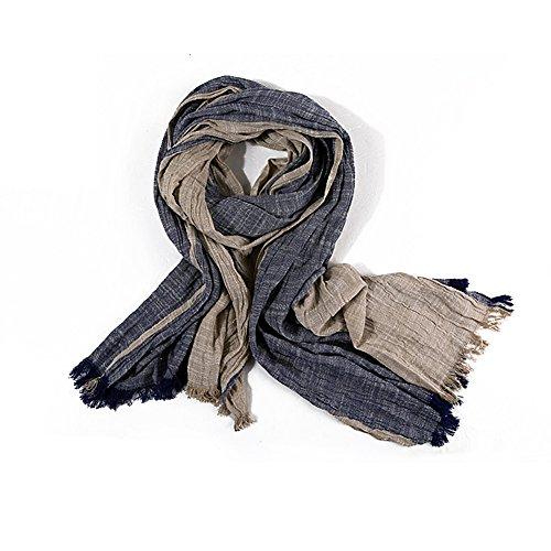 Apricot Wool - Men Scarf Thin Cotton Linen Restoring Ancient Ways Color Men's Wear Fashionable wool face mask (apricot)