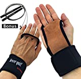 Jump Rope + Gym Gloves – 2 in 1 Bundle – Speed Rope & Hand Grips with Wrist Wraps – Great Workout Equipment for Men and Women – Premium Quality by FIT VIKINGS For Sale