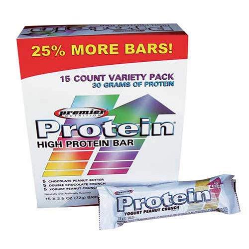 Premier Protein Bar Variety Pack - 15/2.5 Oz. bars