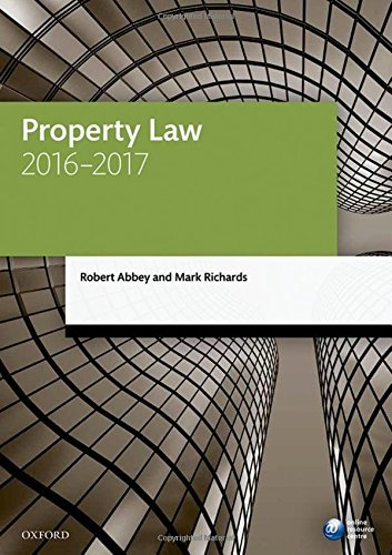 Property Law 2016-2017 (Blackstone Legal Practice Course Guide) by Robert Abbey (2016-06-23)