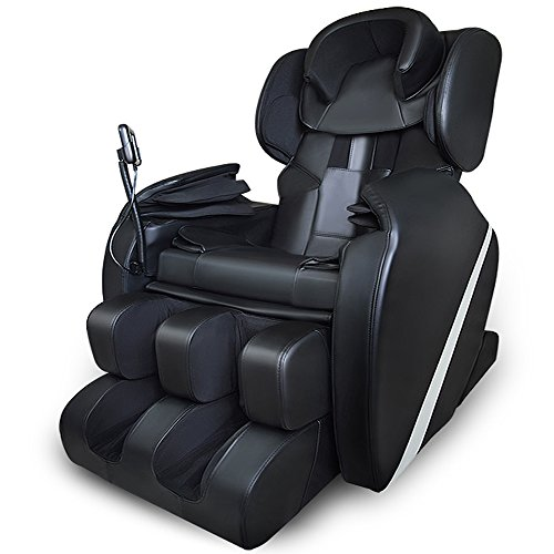 Massage Chair Recliner Electric Zero Gravity Full Body Shiatsu Stretched Massaging Chair Heat and Audio,Black