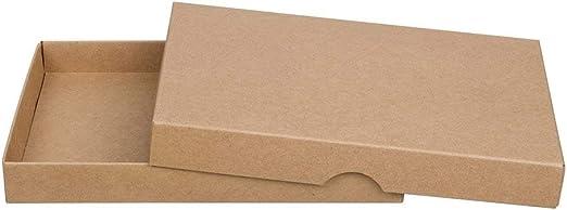 Natürlich verpacken Marrón Estuche Plegable C6, Altura de Relleno 20 mm, con Tapa, Papel de estraza, cartón Kraft, Cajas Caja de Regalo, Foto – 10 Unidades: Amazon.es: Juguetes y juegos