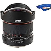 Vivitar 8mm Ultra-Wide f/3.5 Fisheye Lens For Nikon D3000, D3100, D3200, D3300, D5000, D5100, D5200, D5300, D5500, D7000, D7100, D7200, D40, D50, D60, D70, D70s, D80, D90, D100, D200, D300, D500 DSLR