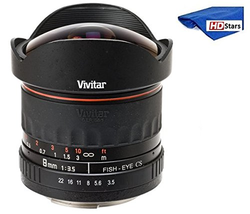 Vivitar 8mm Ultra-Wide f/3.5 Fisheye Lens For Nikon D3000, D3100, D3200, D3300, D5000, D5100, D5200, D5300, D5500, D7000, D7100, D7200, D40, D50, D60, D70, D70s, D80, D90, D100, D200, D300, D500 DSLR (Vivitar Digital Photo Frame)