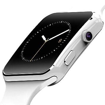 KLAYL Reloj Inteligente Reloj Inteligente X6 con Soporte de ...