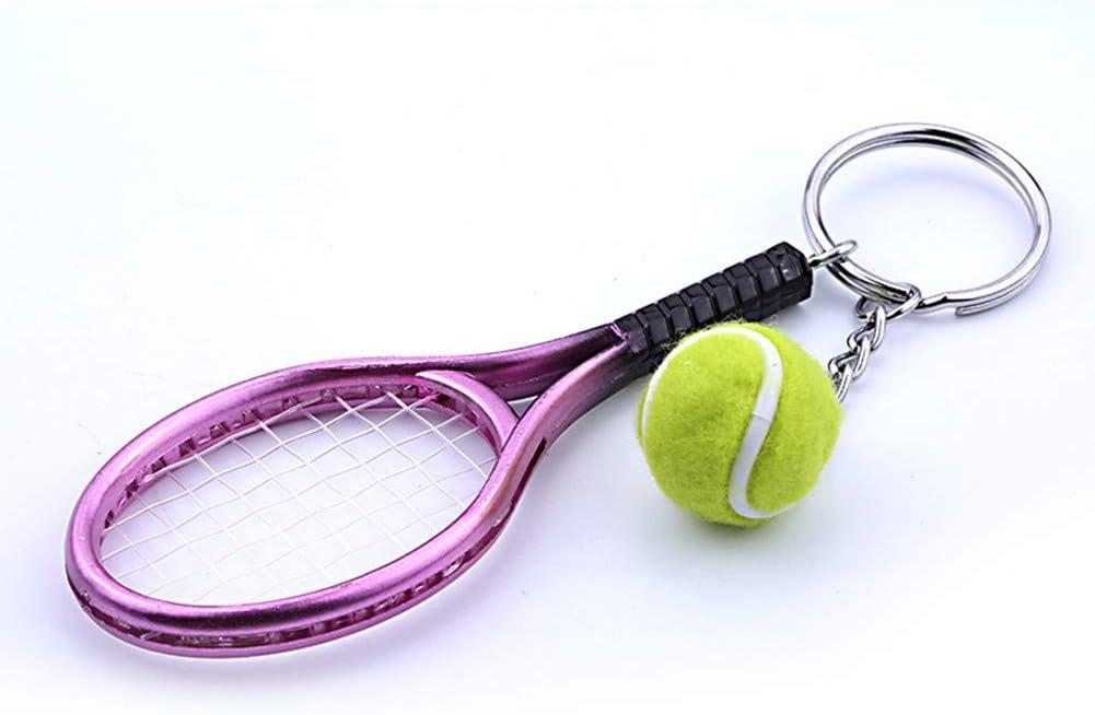 Da.Wa Keychain Mini Tennis Racket Shape Keychain Bag Pendant