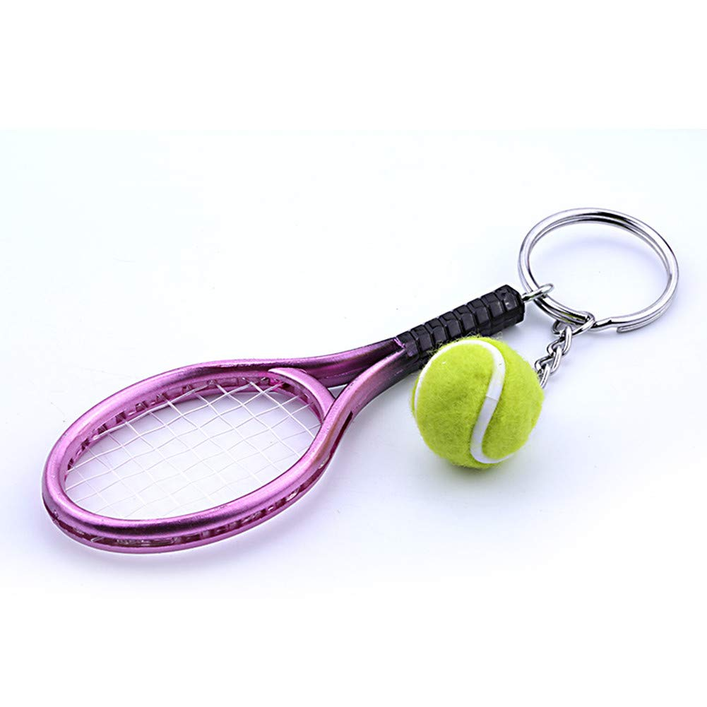 Unique Keyring Key Accessory Perfect Gifts Mini Tennis Racket Pendant Keychain