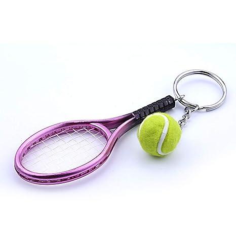 Da.Wa Llavero Mini Forma de Raqueta de Tenis Llavero Bolso ...