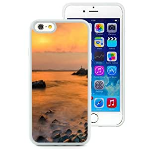New Beautiful Custom Designed Cover Case For iPhone 6 4.7 Inch TPU With Nature Mist Rock Sea (2) Phone Case