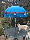 Balinese Umbrella Four (4) ornamental from Bali Indonesia approx. 7' x 3' Many color choices (TWO PAIR)