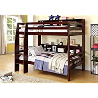 247SHOPATHOME IDF-BK613EX Bunk-Beds, twin-twin, Walnut