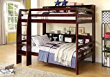 Cheap 247SHOPATHOME IDF-BK613EX bunk-beds, Twin, Walnut