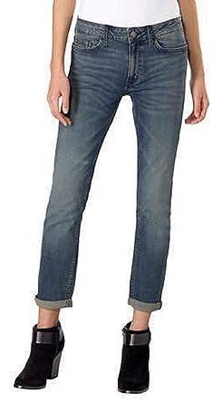 Calvin Klein Womens Jeans Slim Boyfriend Rolled Cuff Classic Fit, Tony Blue