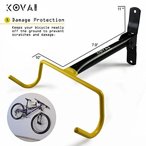 Kova Gear Folding Bike Hanger Hook - Space Saving Bicycle Storage Solution - Hardware Included