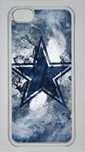 Sports Dallas Cowboys Logo Custom PC Transparent Case for iPhone 5C by icasepersonalized by runtopwell