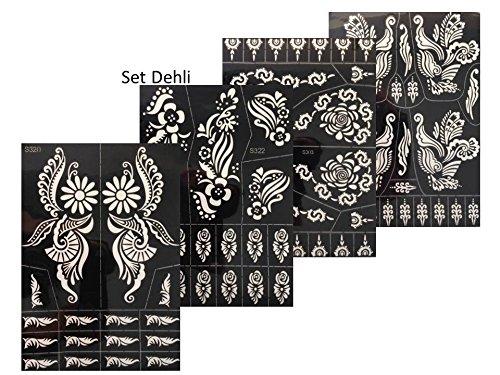 Promozione!Henna Design, 4set Dehli di stampe per tatuaggi artistici per decorare il corpo. Beyond