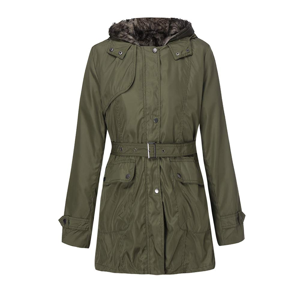 JJLIKER-Women Coats OUTERWEAR レディース XXX-Large アーミーグリーン B07JG7RKMH