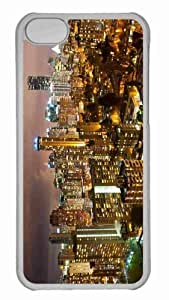 Customized iphone 5C PC Transparent Case - Vancouver Night Photography Personalized Cover