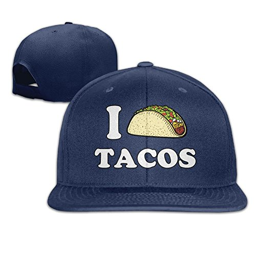 WilliamKL Love Tacos Flat Bill Snapback Adjustable Mountaineering Cap Hat - Shopping Airport Orlando