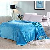 Vivid Color Flannel Bed Blanket Sheet Extra Soft Warm Plush Easy Care Lightweight Fluffy Bedding Blankets for Adult Women Men Bedroom