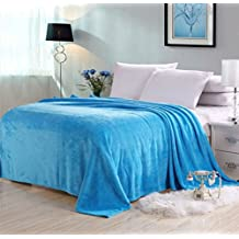 Candy Color Flannel Bed Blanket Sheet Extra Soft Warm Plush Easy Care Lightweight Fluffy Bedding Blankets for Kid Children Teen Boy Girl Bed Room