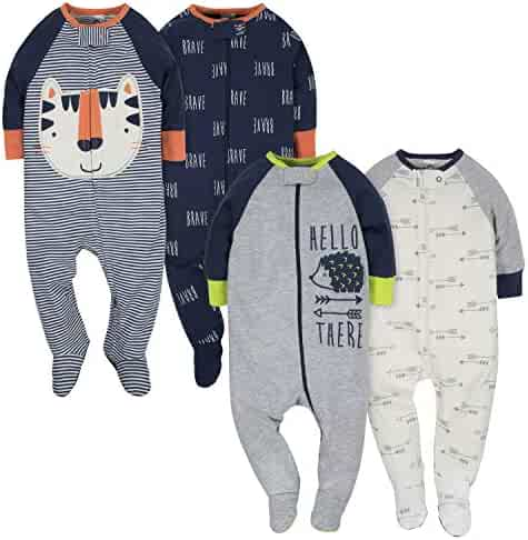 GERBER Baby Boys' 4-Pack Sleep 'N Play