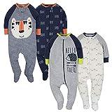 GERBER Baby Boys' 4-Pack Sleep 'N Play, Tiger/Hedgehog, 0-3 Months: more info